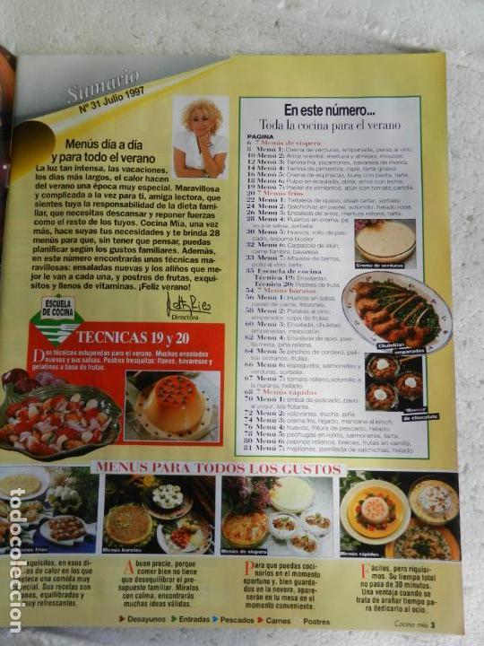 Coleccionismo de Revistas y Periódicos: COCINA MIA REVISTA Nº 31 EXTRA VERANO 1997. POSTRES, ENSALADAS, MENÚS PARA COMBINAR..... - Foto 2 - 154195830