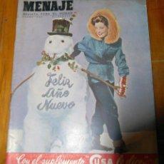 Coleccionismo de Revistas y Periódicos: REVISTA MENAJE Nº 228 - ENERO 1950. Lote 154294458