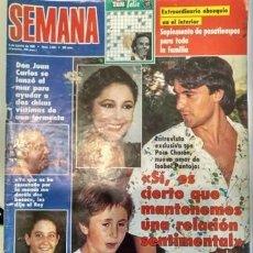 Coleccionismo de Revistas y Periódicos: REVISTA SEMANA 2634 8 AGOSTO 1990 ISABEL PANTOJA Y KIKO RIVERA. Lote 154333806
