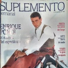 Coleccionismo de Revistas y Periódicos: SUPLEMENTO SEMANAL 14 MARZO 1993 ENRIQUE PONCE. Lote 154334602