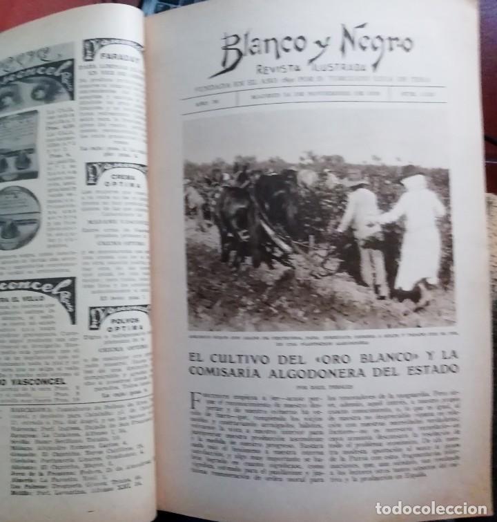 Coleccionismo de Revistas y Periódicos: Blanco y Negro - 6 revistas, años 1926 y 1927, en tomo - Foto 20 - 154349890