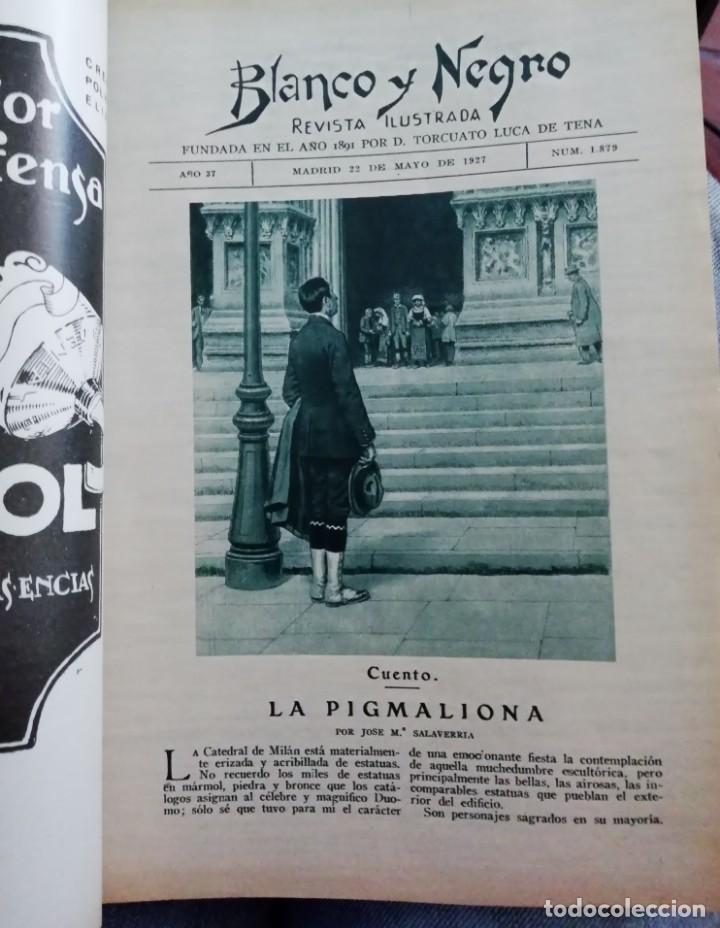 Coleccionismo de Revistas y Periódicos: Blanco y Negro - 6 revistas, años 1926 y 1927, en tomo - Foto 27 - 154349890