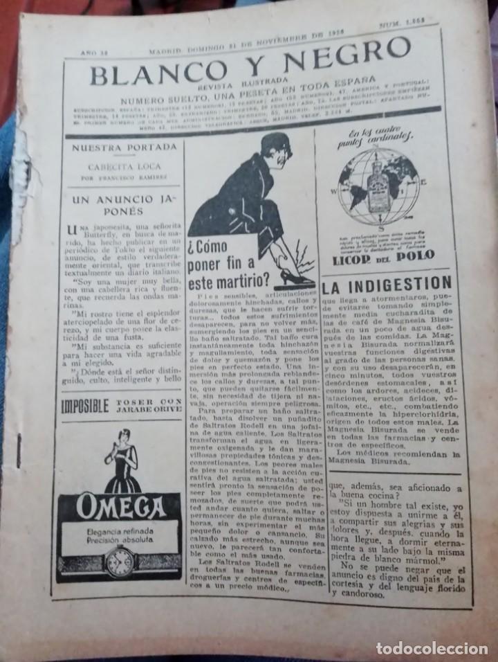 Coleccionismo de Revistas y Periódicos: Blanco y Negro - 6 revistas, años 1926 y 1927, en tomo - Foto 32 - 154349890