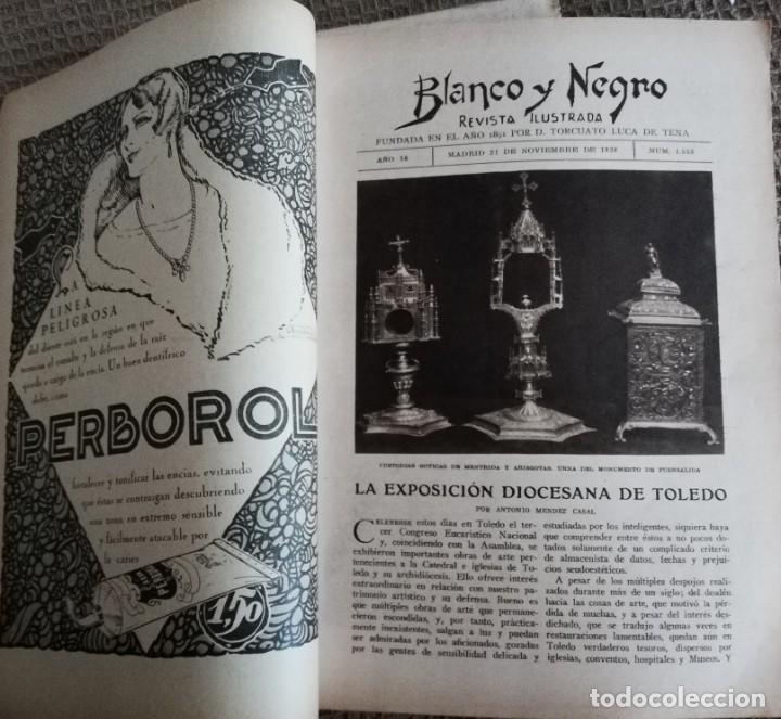 Coleccionismo de Revistas y Periódicos: Blanco y Negro - 6 revistas, años 1926 y 1927, en tomo - Foto 33 - 154349890