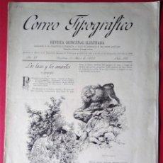 Coleccionismo de Revistas y Periódicos: CORREO TIPOGRAFICO 1888 N 132 REVISTA DE ARTE GRAFICA . Lote 154400378