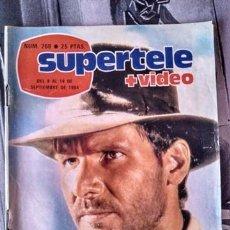 Coleccionismo de Revistas y Periódicos: REVISTA DE TELEVISIÓN SUPERTELE 260 INDIANA JONES Y EL TEMPLO MALDITO, HARRISON FORD. Lote 154400846