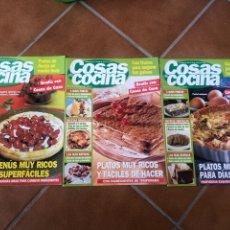 Coleccionismo de Revistas y Periódicos: LOTE DE REVISTAS COSAS DE COCINA NÚMEROS 86,87 Y 88. Lote 154421070