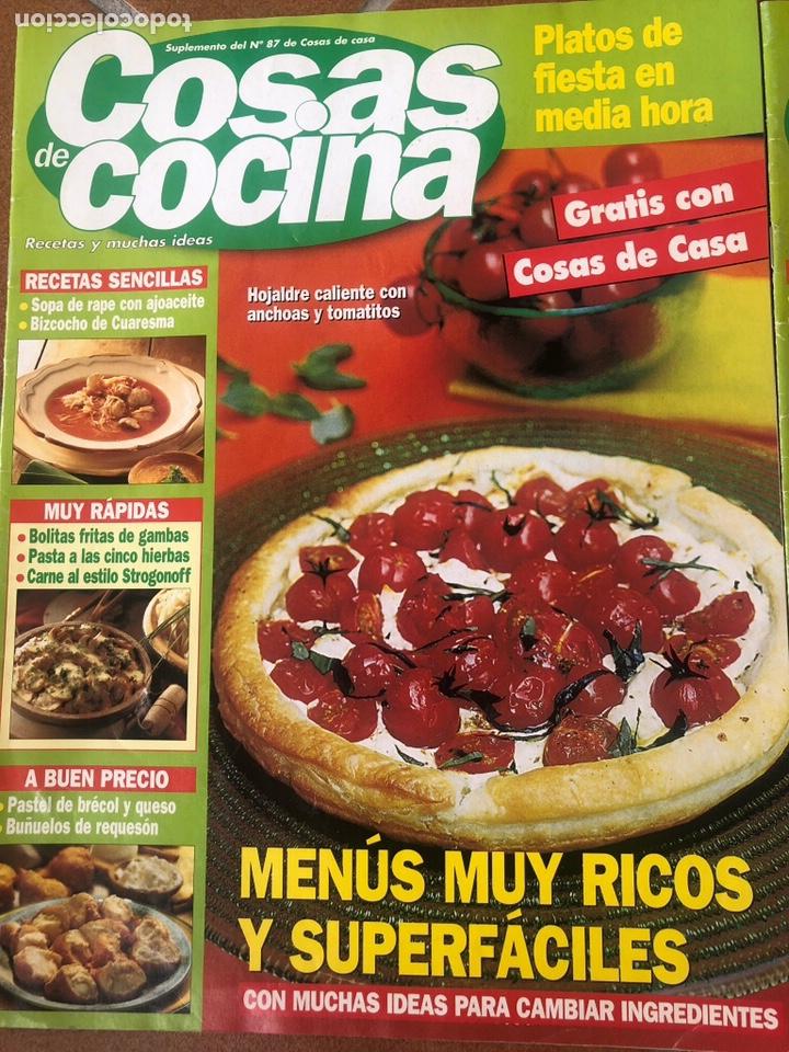 Coleccionismo de Revistas y Periódicos: LOTE DE REVISTAS COSAS DE COCINA NÚMEROS 86,87 y 88 - Foto 2 - 154421070