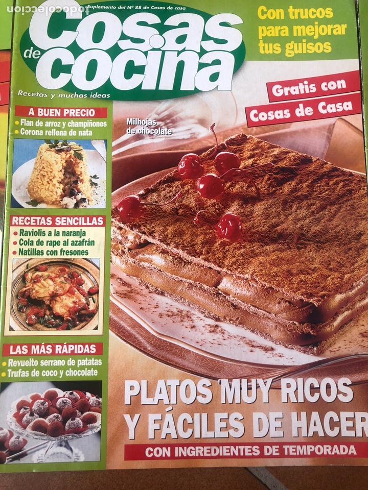 Coleccionismo de Revistas y Periódicos: LOTE DE REVISTAS COSAS DE COCINA NÚMEROS 86,87 y 88 - Foto 3 - 154421070