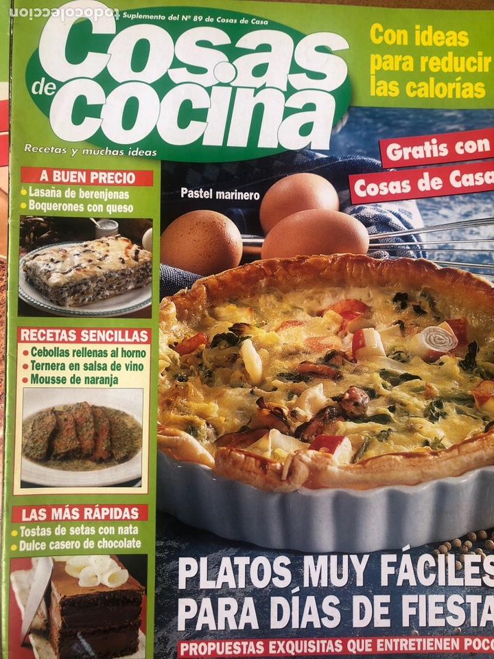 Coleccionismo de Revistas y Periódicos: LOTE DE REVISTAS COSAS DE COCINA NÚMEROS 86,87 y 88 - Foto 4 - 154421070