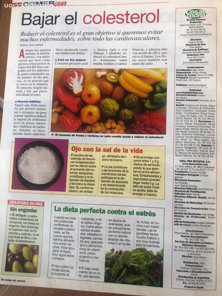 Coleccionismo de Revistas y Periódicos: LOTE DE REVISTAS COSAS DE COCINA NÚMEROS 86,87 y 88 - Foto 7 - 154421070