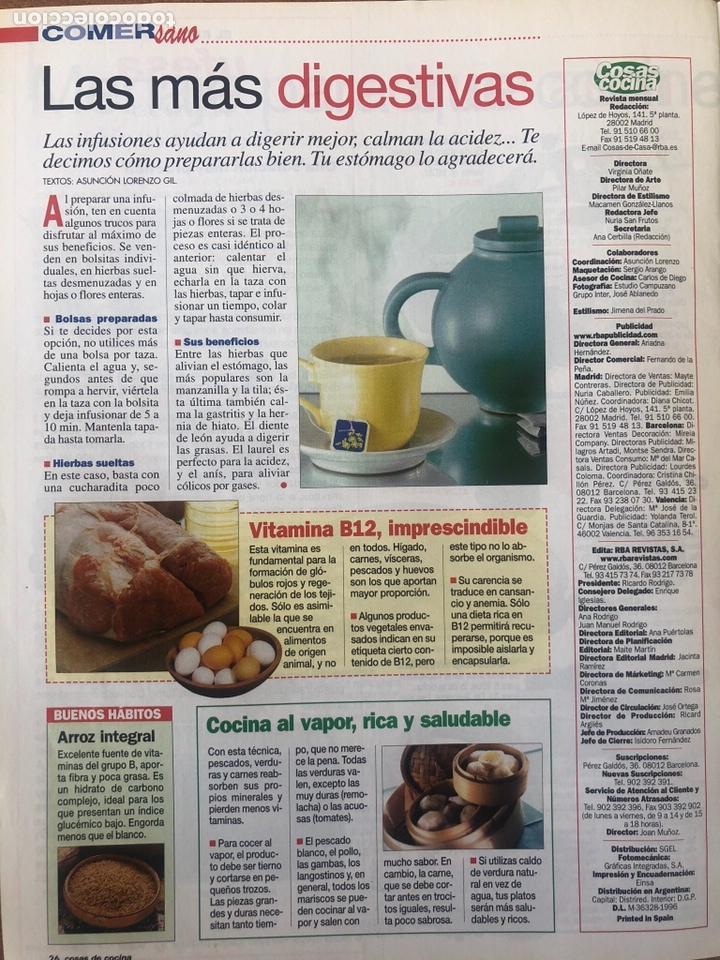Coleccionismo de Revistas y Periódicos: LOTE DE REVISTAS COSAS DE COCINA NÚMEROS 86,87 y 88 - Foto 8 - 154421070