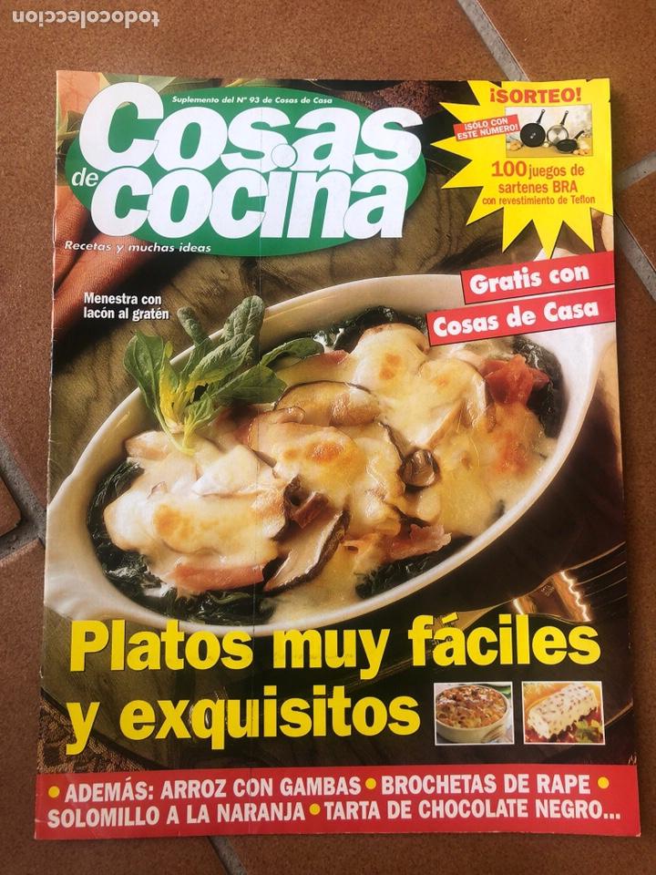REVISTA COSAS DE COCINA NÚMERO 93 (Coleccionismo - Revistas y Periódicos Modernos (a partir de 1.940) - Otros)