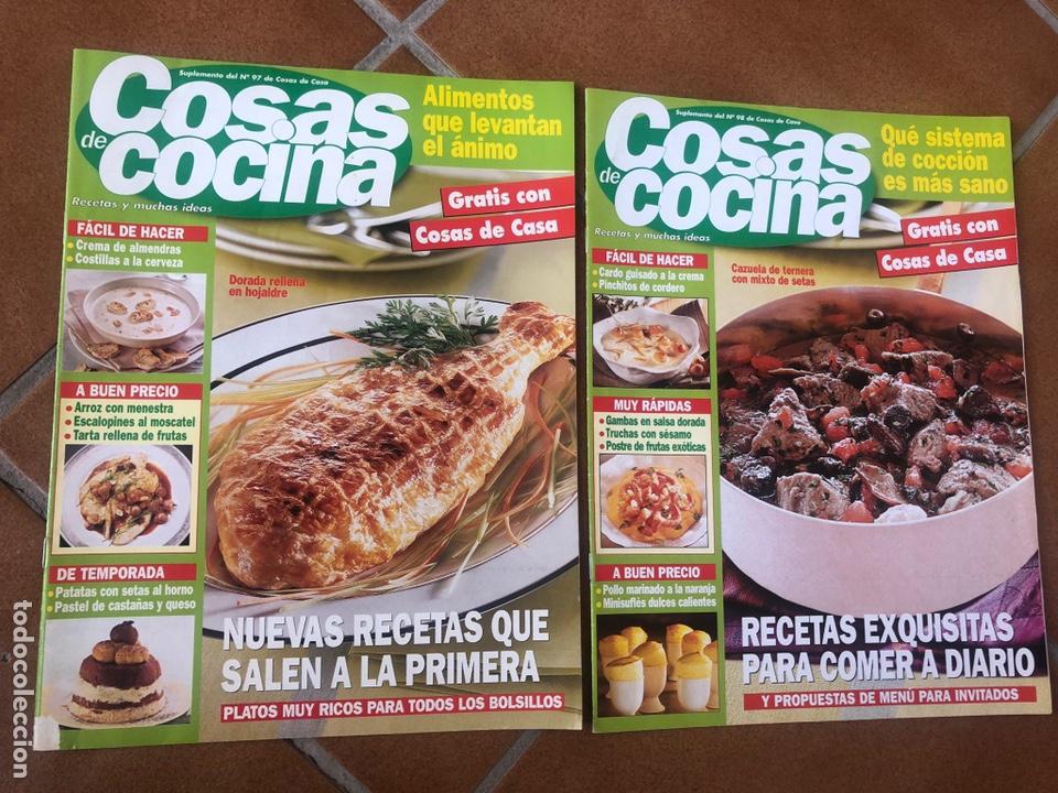 LOTE DE REVISTAS COSAS DE COCINA NÚMEROS 97 Y 98 (Coleccionismo - Revistas y Periódicos Modernos (a partir de 1.940) - Otros)
