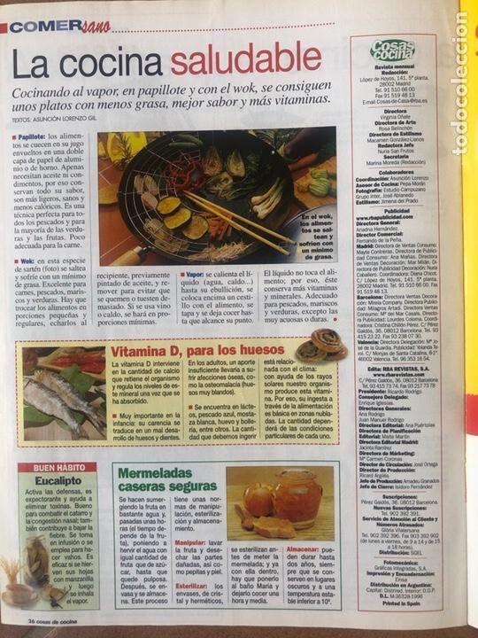 Coleccionismo de Revistas y Periódicos: LOTE DE REVISTAS COSAS DE COCINA NÚMEROS 97 y 98 - Foto 4 - 154422444