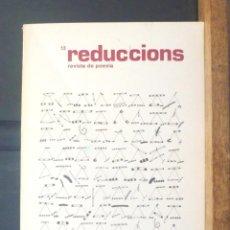 Coleccionismo de Revistas y Periódicos: REDUCCIONS 13 REVISTA DE POESIA 1981 VIC. Lote 154549330