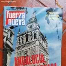 Coleccionismo de Revistas y Periódicos: ANTIGUA REVISTA FUERZA NUEVA NUMERO 712 30 AGOSTO 1980 ANDALUCIA SANTA BARBARA. Lote 154550142