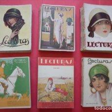Coleccionismo de Revistas y Periódicos: LECTURAS.-REVISTAS.-ARTE.-CULTURA.-LITERATURA.-PUBLICIDAD.-LOTE DE 40 REVISTAS.-AÑOS 20.. Lote 154601882