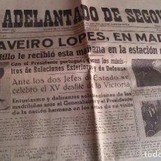 Coleccionismo de Revistas y Periódicos: EL ADELANTADO DE SEGOVIA. 15 DE MAYO DE 1953. Lote 154874686