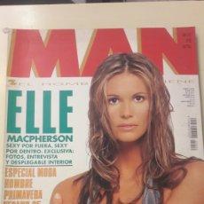 Coleccionismo de Revistas y Periódicos: REVISTA MAN N 95 ELLE MACPHERSON POSTER CENTRAL. Lote 154939782