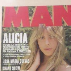 Coleccionismo de Revistas y Periódicos: REVISTA MAN N 94 ALICIA BOGO POSTER CENTRAL. Lote 154940766