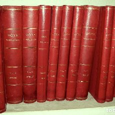 Coleccionismo de Revistas y Periódicos: GOYA, REVISTA DE ARTE. NÚMEROS DEL 1 AL 98. 1954-1970. 14 TOMOS.. Lote 154942338
