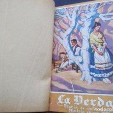Coleccionismo de Revistas y Periódicos: TOMO ENCUADERNADO CON DOS REVISTAS LA VERDAD DE MURCIA 1928 Y 1930 AMBOS EXTRAORDINARIOS. Lote 154975378