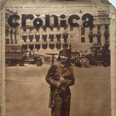Coleccionismo de Revistas y Periódicos: 1936 CRÓNICA. AÑO VIII. NÚM 351. 28,6X38,3 CM. Lote 154977586