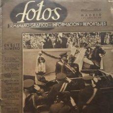 Coleccionismo de Revistas y Periódicos: 1940 FOTOS. SEMANARIO GRÁFICO NACIONAL AÑO IV. Nº 162. 6 ABRIL 1940. 27,6X37,4 CM. Lote 154986274