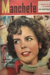 1956 Revista brasileña Manchete. Río de Janeiro. Nº 205