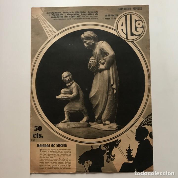 1936 Revista Algo. Ilustración popular Año VIII Núm. 334. 24,5x33,8 cm