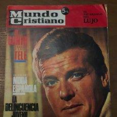 Coleccionismo de Revistas y Periódicos: MUNDO CRISTIANO OCT 1967 Nº 57 EL SANTO VUELVE A LA TV. MODA ESPAÑOLA EN COLOR. . Lote 155001426