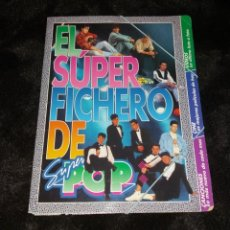 Coleccionismo de Revistas y Periódicos: SUPER POP SUPERPOP. CARPETA EL SÚPER FICHERO (VIDEOS, CINE, CANCIONES). CON 19 FICHAS, AÑOS 90. Lote 155008938