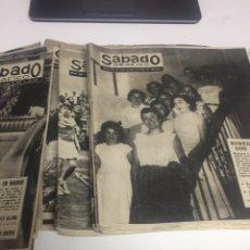 Coleccionismo de Revistas y Periódicos: REVISTA SÁBADO GRAFICO ANTIGUAS. Lote 155029457