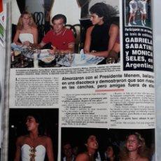 Coleccionismo de Revistas y Periódicos: GABRIELA SABATINI MONICA SELES CARLOS MENEM . Lote 155034810