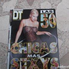Colecionismo de Revistas e Jornais: DT SUPLEMENTO MARZO 2000, LAS 50 CHICAS MAS SEXYS,. Lote 155080026