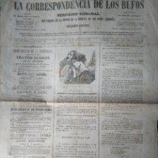 Coleccionismo de Revistas y Periódicos: LA CORRESPONDECIA DE LOS BUFOS MUSICOLOGIA 1871 ECO PARCIAL DE LA OPINION DE LA EMPRESA DE LOS BUFOS. Lote 155108146