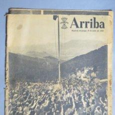 Coleccionismo de Revistas y Periódicos: PERIODICO. ARRIBA. 19 JULIO 1953. 18 JULIO. Lote 155109130