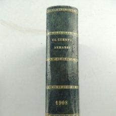 Coleccionismo de Revistas y Periódicos: EL CUENTO SEMANAL ALMANAQUE 1908 ENCUADERNADO. Lote 155120814