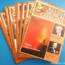 Collectionnisme de Revues et Journaux: LOT 17 REVISTA MUSICAL CATALANA N 1-60 1984-9 TRAMESA CERTIFICADA INCLOSA. Lote 155139574