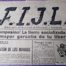 Coleccionismo de Revistas y Periódicos: F.I.J.L. 1937 GUERRA CIVIL FEDERACION IBERICA DE JUVENTUDES LIBERTARIAS PORTUGAL ASTURIAS. Lote 155143746