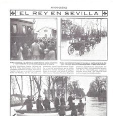 Collezionismo di Riviste e Giornali: 1912 HOJA REVISTA SEVILLA ESTACIÓN DE CAMAS INUNDACIÓN REY ALFONSO XIII PASEO DELICIAS BARCA COCHE. Lote 155224130