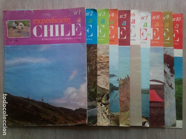 EXPEDICION A CHILE. EDITORA NACIONAL GABRIEL MISTRAL. N.1 HASTA 10 (Coleccionismo - Revistas y Periódicos Modernos (a partir de 1.940) - Otros)
