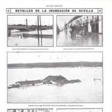 Collezionismo di Riviste e Giornali: 1912 HOJA REVISTA SEVILLA INUNDACIONES GUADALQUIVIR REPARTO PAN BARRIO TRIANA HOMBRE A CABALLITO. Lote 155264606