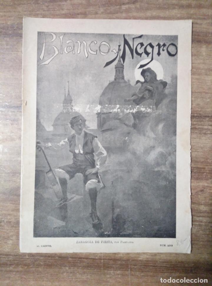 MFF.- REVISTA BLANCO Y NEGRO.- Nº 232 - 12 OCTUBRE 1895.- LAS FIESTAS DEL PILAR (INSTANTANEAS (Coleccionismo - Revistas y Periódicos Antiguos (hasta 1.939))