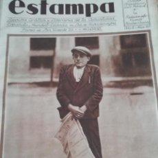 Coleccionismo de Revistas y Periódicos: REVISTA ESTAMPA 1930 ATH.BILBAO CAMPEON COPA -PAULINO UZCUDUN -OÑATE. Lote 155484770