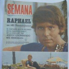 Coleccionismo de Revistas y Periódicos: SEMANA , 5 SEPTIEMBRE 1970 : RAPHAEL , ETC. Lote 244519135