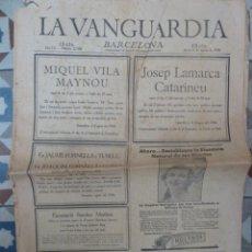 Coleccionismo de Revistas y Periódicos: PERIODICO LA VANGUARDIA Nº 22.588 AGOSTO 1936 GUERRA CIVIL. Lote 155529202