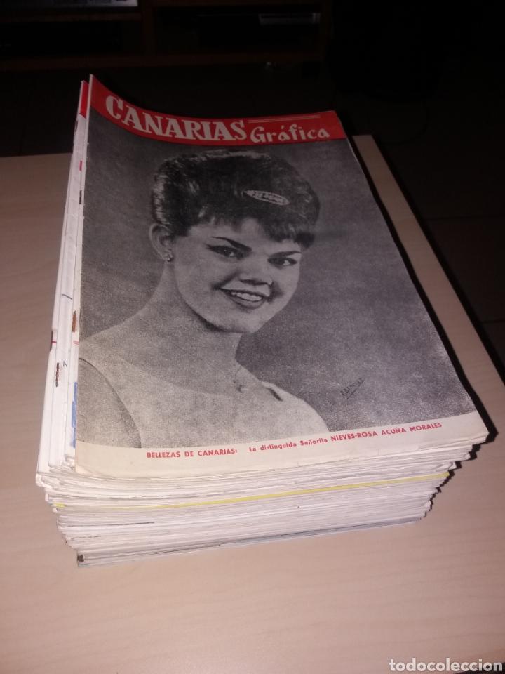 GRAN LOTE DE ANTIGUAS REVISTAS, CANARIAS GRÁFICA - 56 REVISTAS (Coleccionismo - Revistas y Periódicos Modernos (a partir de 1.940) - Otros)