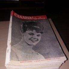 Coleccionismo de Revistas y Periódicos: GRAN LOTE DE ANTIGUAS REVISTAS, CANARIAS GRÁFICA - 56 REVISTAS. Lote 155543380